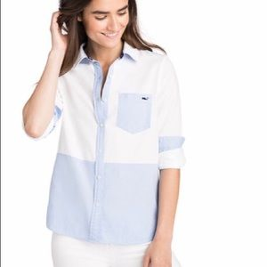 NWT🐳VV🐳Color Blocked Relaxed Oxford Buttondown